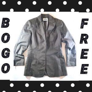 Kasper Grey Brown Open Front Blazer (4)